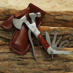 Mo-Tool Wood Inlay Axe - Quite possibly the handsomest multitool in your zombie survival arsenal. It's an axe, hammer, wrench, knife, can opener, wire cutter, file, and pliers all in one. There's even a handsome handcrafted red oak handle that'll look even better with the blood of a few zombies rubbed into it. ($50)
