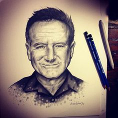Robin Williams by Andrew Wilson