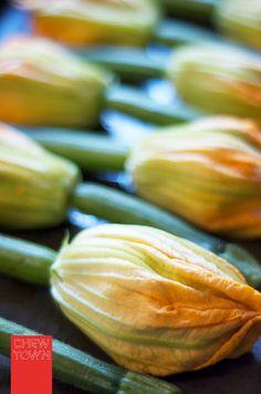 Baked Stuffed Zucchini Flowers Recipe | Chew Town Food Blog