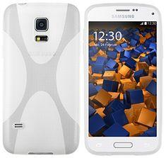 Mumbi X TPU Schutzhülle Samsung Galaxy S5 Mini Hülle Transparent Weiss  Sieht In Design, Funktionen