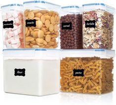 (This is an affiliate pin) Vtopmart Airtight Storage Containers Pieces Large Food Storage Containers, Cereal Containers, Dry Food Storage, Plastic Container Storage, Plastic Containers, Dispenser Cereal, Flour Container, Cereal Storage, Kitchen Pantry Storage