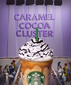 Starbucks new Caramel Cocoa Cluster Frappuccino! Are you going go to try this one?