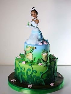 The Princess and the frog cake by Elena Michelizzi - For all your cake decorating supplies, please visit craftcompany.co.uk