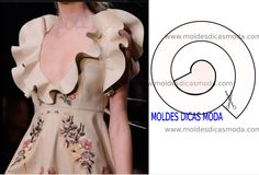 Hoje vou abordar alguns detalhes de modelagem e design de moda, de modo a facili… Today I will cover some details of modeling and fashion design, in order to facilitate the reading and interpretation of image models. High Street Fashion, Dress Sewing Patterns, Clothing Patterns, Costura Fashion, Fifties Fashion, Fashion Days, Collar Pattern, Spring Fashion Trends, Fashion Sewing