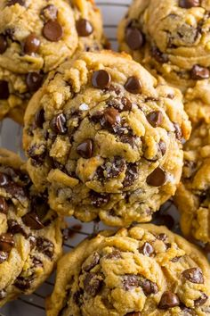 Everyday Chocolate Chip Cookies are thick, chewy, and LOADED with chocolate in every bite!!! | Posted By: DebbieNet.com