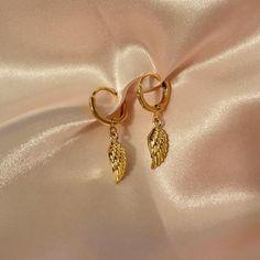 ANGEL BABY earrings - dainty angel wing earrings, delicate huggie earrings, trendy minimal earrings, Baby Earrings, Simple Earrings, Simple Jewelry, Cute Earrings, Cute Jewelry, Dainty Earrings, Baby Necklace, Angel Wing Earrings, Gold Plated Earrings