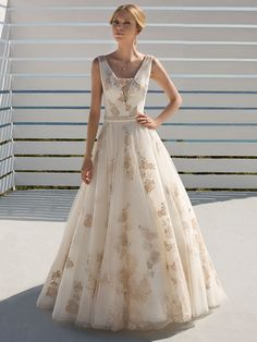 Mariella - by Donna Salado Nude Color, Lace Applique, Rock, Bridal Collection, Wedding Gowns, Ball Gowns, Formal Dresses, Fashion, Shell Tops