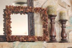mini pine cone frame