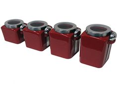 pottery kitchen walmart red canister sets canisters set stainless steel glass lid piece sugar
