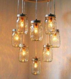 Vida-EcoVerde : Lámparas colgantes con envases de vidrio
