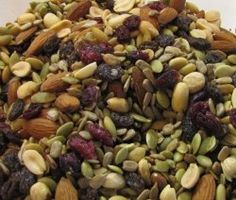 Trail Mix of Seeds, Dried Fruits and Nuts - my hubby's recipe