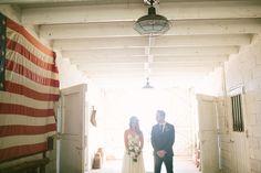 Barn Wedding.  Unique Wedding Dress. Flower crown.  Wedding pictures.  Condor's Nest Ranch.  Leah Vis Photography
