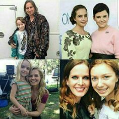Once Upon A Time actors with the actors for their younger selves
