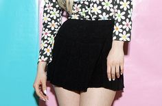 90s schoolgirl knit mini skirt / Clueless meets The by themall, $28.00