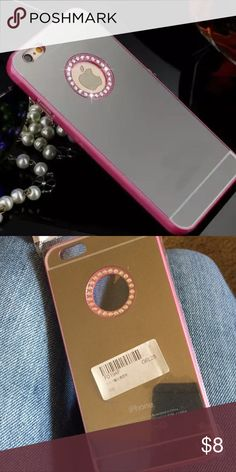 iPhone 6/6s case New. iPhone 6/6s. Mirror bling pink case. Add a glass screen protector for $3 Accessories Phone Cases