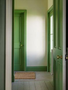 Welsh House | Ben Pentreath Ltd. All that gorgeous green trim!