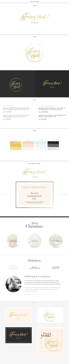 Brand identity and brand new site for Fancy That Events! http://www.fancythatevents.com/ #branding #typography #brandidentity #webdesign #design #floagency #flosites