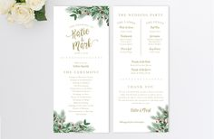 winter wedding program templates snowflake order of ceremony navy