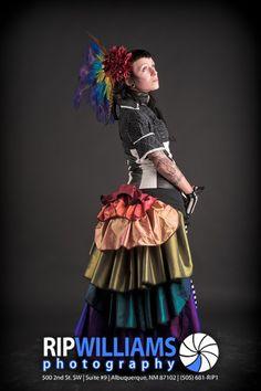 rainbow bustle mini skirt