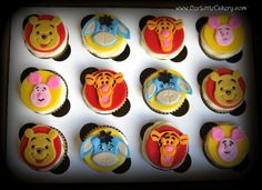 Disney Winnie the Pooh Cupcakes www.ourLittlecakery.com Fresno CA 559-999-2649www.ourLittlecakery.com Fresno CA 559-999-2649