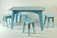 A beautiful egg shell blue dining set perfect for the non-fussy diner like me.~Found on Etsy.com