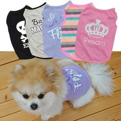 1e9e4276bfb3b Pet Dog Summer Clothes Cat Puppy Vest T-Shirt Striped Coat Pet Apparel  Costume Dog