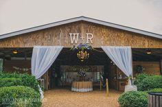 Burlap Tablecloth from Ballard Designs / Wedding by Cross Creek Ranch