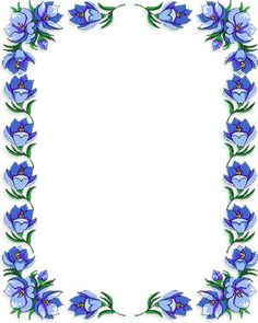 Flower border stationery paper designs perfect papers flower free flower borders flower border clipart mightylinksfo