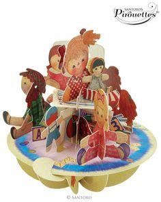 Cup Cake Tea Time Santoro 3D Pirouette Greeting Card