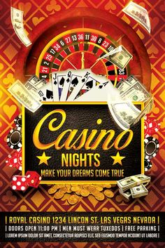 Casino Flyer Template - http://xtremeflyers.com/casino-flyer-template/ Casino…