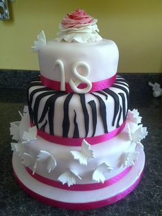 Girly 18th birthday cake by eloise cupcakes, via Flickr