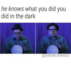 I pretty much live in the dark… Emo Bands, Music Bands, Fall Out Boy Memes, Patrick Stump, Music Memes, Panic! At The Disco, Band Memes, Falling Down, My Chemical Romance