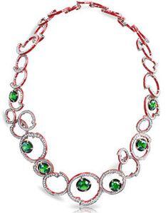 Fabergé Composition Rouge Et Verte Necklace http://www.faberge.com/news/14-theconstructivistcollection.aspx