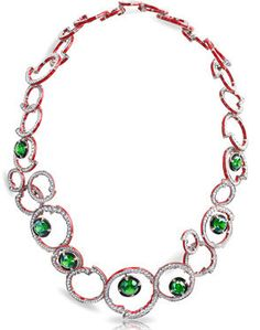 Fabergé Composition Rouge Et Verte Necklace http://www.faberge.com/news/14-theconstructivistcollection.aspx