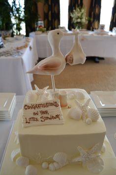 Sandpiper Cake Topper For Beach Themed All White Baby Shower   By Dessert  Deli, Buffalo