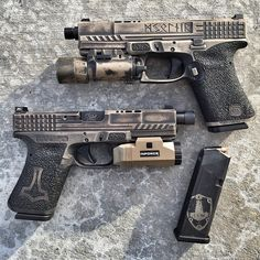 Twins. Machining by @dpcustomworks Laser engraving by @leoarmory Cerakote by @blowndeadline Concept, design and frame work by myself, @ssvi_llc