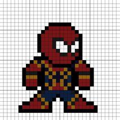 Iron Spider Suit Spider-Man Homecoming Perler Bead Pattern