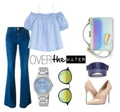 """""""OVERtheWater"""" by cathy-n-bali ❤ liked on Polyvore featuring Mark Cross, STELLA McCARTNEY, H&M, Massimo Matteo, Ray-Ban, Seiko, Blue, allblue and bluedenim"""