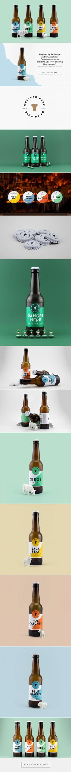 Western Herd Brewing Company beer labels design by Vincent Casey (Ireland) - http://www.packagingoftheworld.com/2016/07/western-herd-brewing-company.html