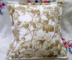 "Laura Ashley Fabric Custom Boudoir Pillow Shams 2 Brompton White 12"" x 16""   eBay"