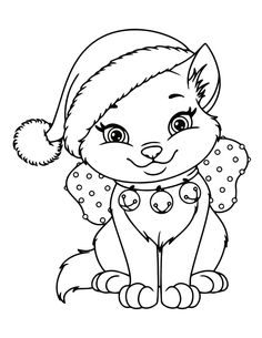 Cat Coloring Page, Animal Coloring Pages, Coloring Book Pages, Coloring Pages For Kids, Coloring Pages Winter, Coloring Pictures For Kids, Easter Coloring Pages, Christmas Present Coloring Pages, Printable Christmas Coloring Pages