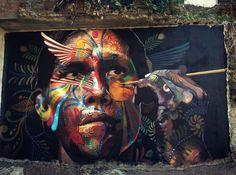 Street Art by Tad Takano in  Puerto Vallarta, Mexico