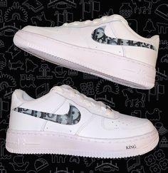 Air Force Sneakers, Nike Air Force, Sneakers Nike, Hand Painted, King, Shoes, Design, Fashion, Nike Tennis