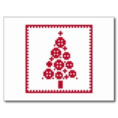 Button Christmas tree postcard 0.70p