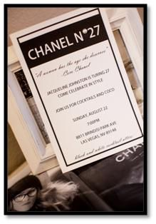 Party Invitations, Party Planning & Event Ideas : A Chanel Party
