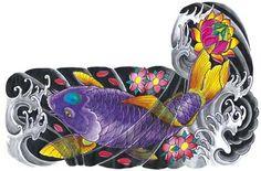Tatuagens de Carpas na Costela, na Perna, no Braço