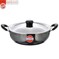 #United_Ucook_Non_Stick Kadhai & Glass Lid with Induction Base- 220 mm India's top leading and selling #Pressure_cooker.