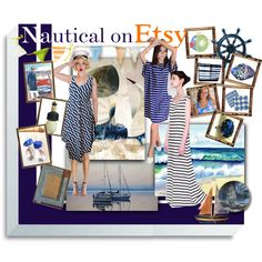 Nautical on Etsy by funnfiber on Polyvore featuring Regatta and White Ice