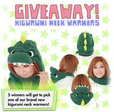 Kigurumi shop is giving away 5 neck warmers enter for a chance to win