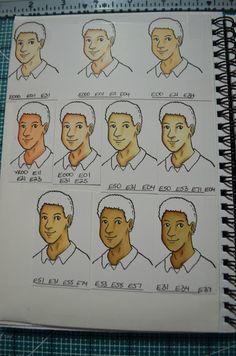 Copic Skin Colours